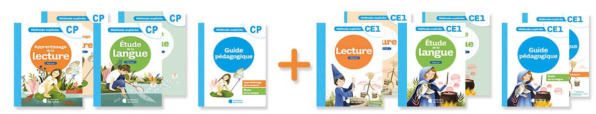 La méthode explicite de français de La Librairie des écoles niveaux CP et CE1